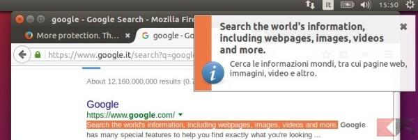 Tradurre parti di testo selezionato su Ubuntu senza aprire il browser