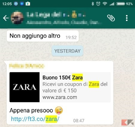 150 e zara whatsapp