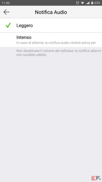 EZVIZ C2mini notification