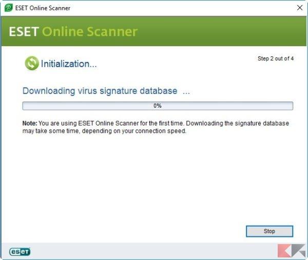 ESET Online Scanner firme nuove