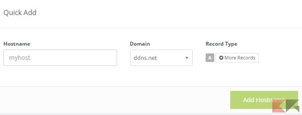 how to add a hostname to dns