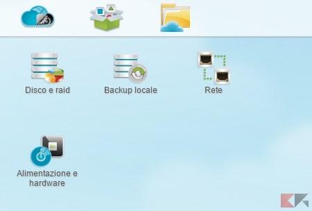 Icone predefinite e menu
