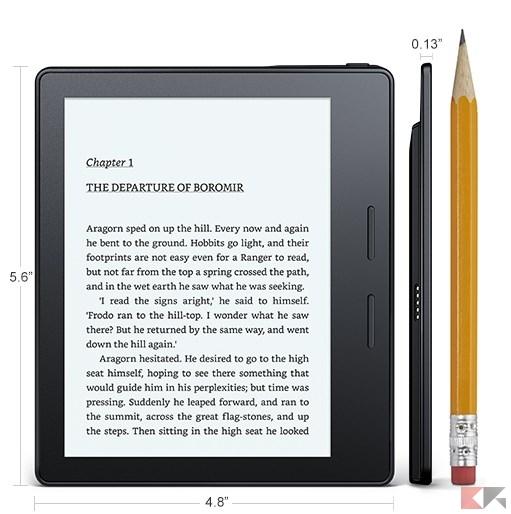 Kindle Oasis confronto matita