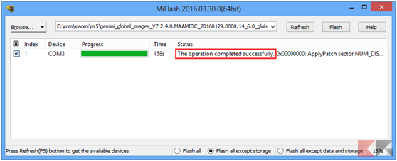 MiFLash Global Stable per Mi 5