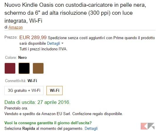 Nuovo Kindle Oasis - Amazon.it