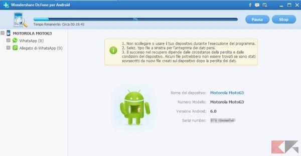 Wondershare Dr.Fone per Android recupero dati finale
