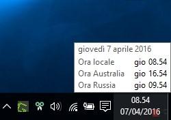 Aggiungere fusi orari all'orologio di Windows