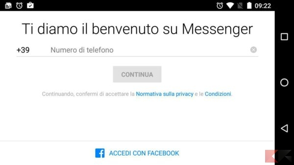 messenger-senza-facebook