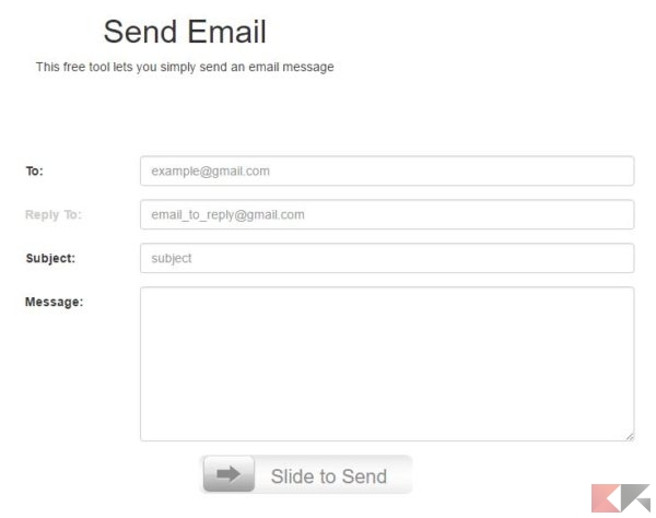send email - email anonime