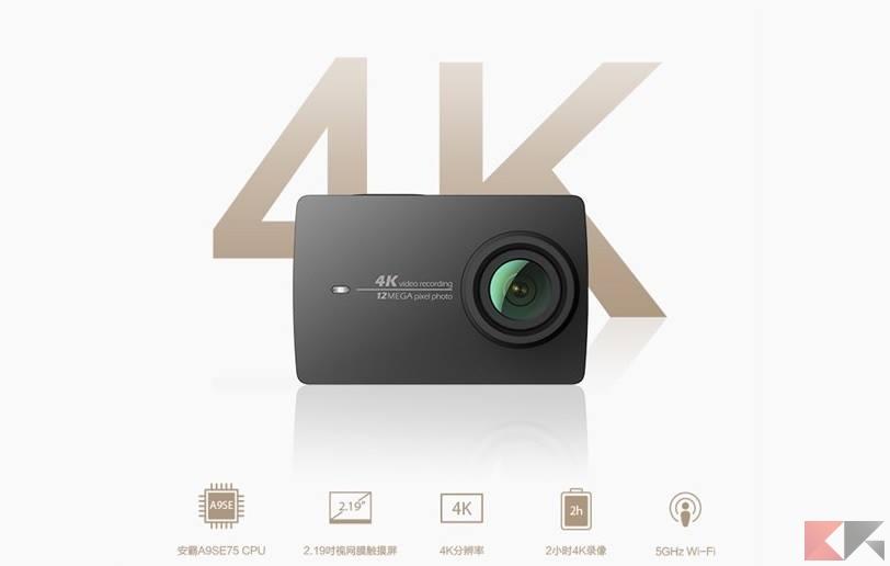 Xiaomi yi 4k prezzo e caratteristiche della nuova action for Microfono esterno xiaomi yi