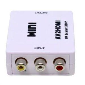 Adattatore convertitore da RCA AV to hdmi Audio frontale