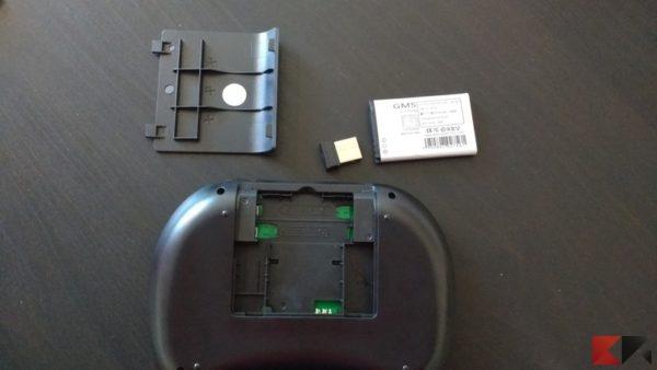 tastiera wireless batteria e ricevitore