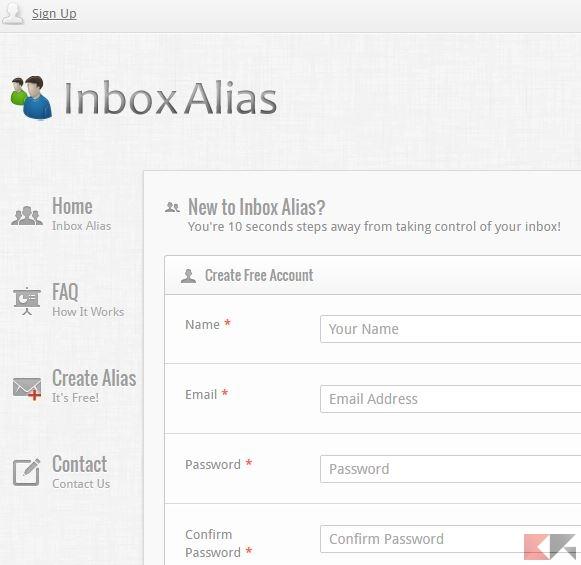 Inbox Alias - alias email