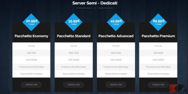 Server Semi - Dedicati - Adversity Hosting Solution
