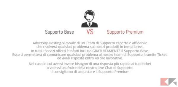 Supporto - Adversity Hosting Solution
