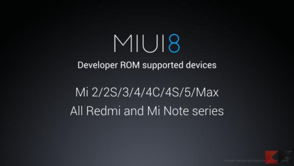 Xiaomi MIUI 8 - device supportati