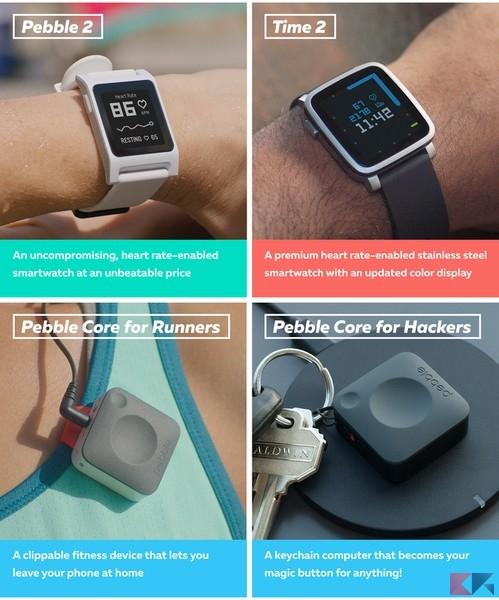 Pebble lancia nuovi smartwatch