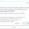 recommended update windows risultato