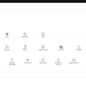 tab settings risultato