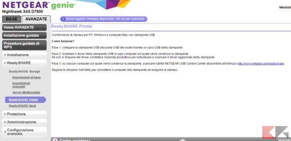 NETGEAR Router D7800 printer