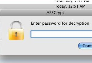Using AES Crypt Advanced File Encryption for Mac