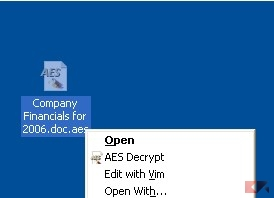 Using AES Crypt decrypt