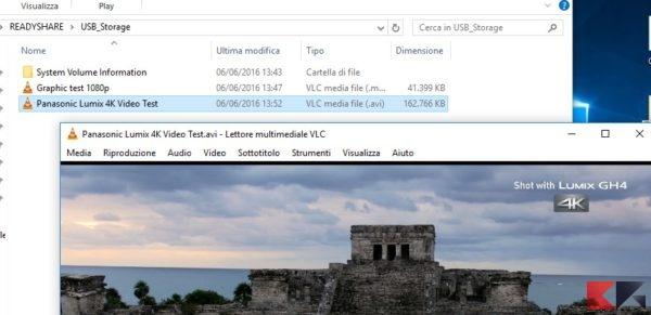 Video test 4K condivisione