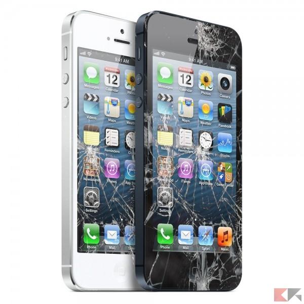 apple iphone 6 broken glass digitizer lcd replacement repair colour white 2708 p