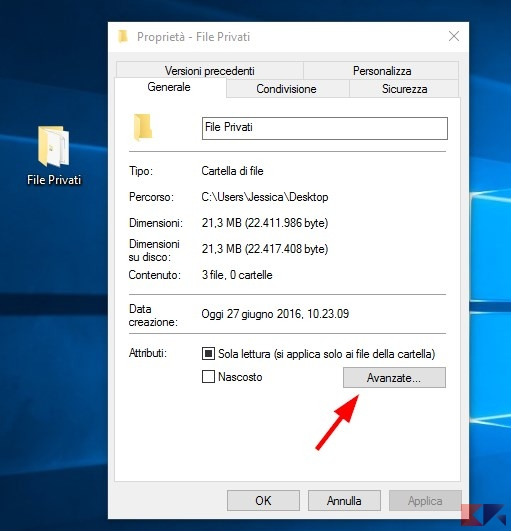Cifrare i file su Windows con EFS