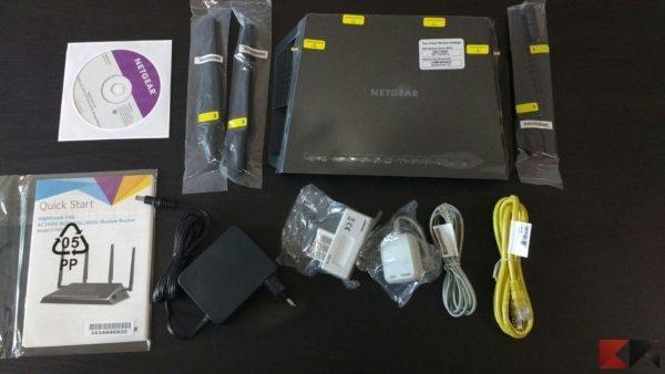 Netgear D7800 contenuto confezione