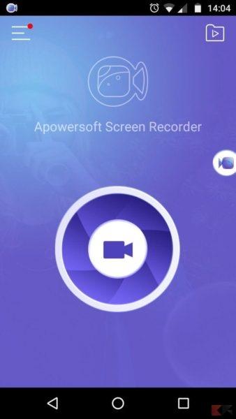 registrare schermo su Android