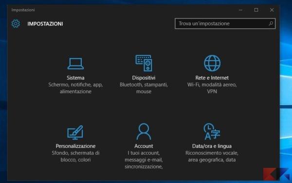 Passare da rete pubblica a privata in Windows 10