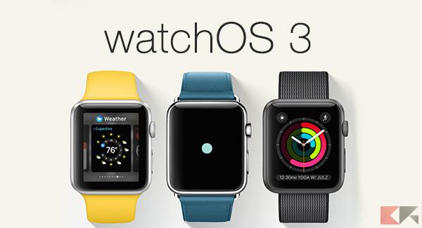 watchOS 3 e tvOS 10 ufficiali: novità e come aggiornare