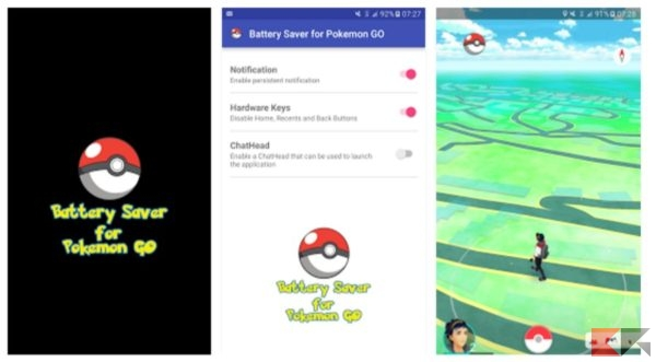 Battery Saver per Pokémon Go