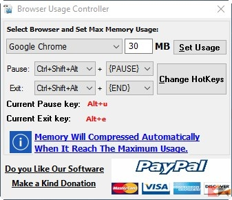 Browser Usage Controller