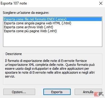 Esporta 107 note