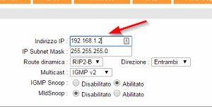 Indirizzo IP nuovo