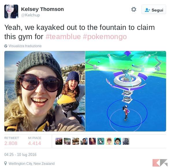 Pokémon Go - palestra in acqua
