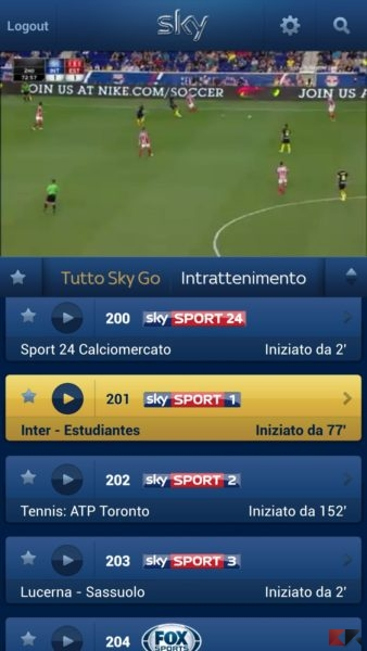 Sky Go per Android