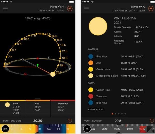 Sun Surveyor Lite (Sole) sull'App Store