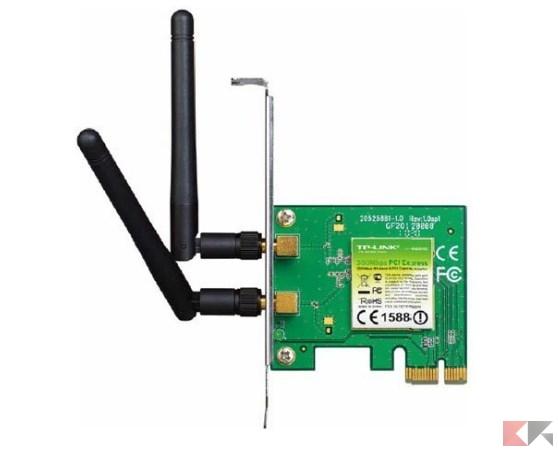 TP-LINK TL-WN881ND Adattatore PCI Express Wireless N 300 Mbps, 2 Antenne Rimovib