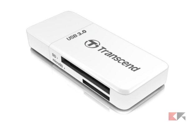 Transcend Ts-Rdf5W Lettore di Schede Usb 3.0 Sd-Microsd, Bianco_ Amazon.it_ Info