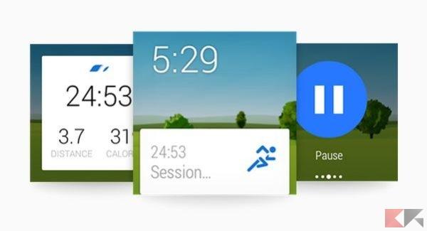 10e0164f3f Potrete far partire direttamente la sessione dal vostro smartwatch e in  alcuni casi, come su Sony Smartwatch 3, lasciare a casa il vostro smartphone .
