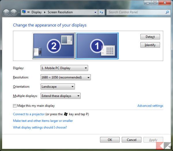 come si fa a collegare due monitor a un PC incontri senza aspettative