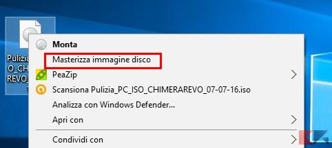 masterizzare ISO - Windows