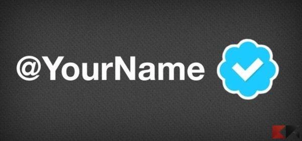 Richiedere un account verificato Twitter