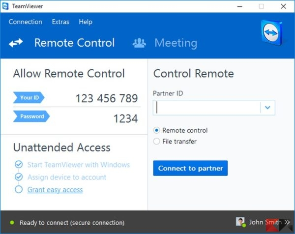 how to create teamviewer server