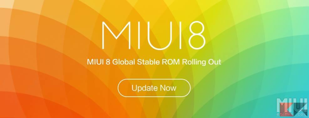 MIUI 8 Global Stable
