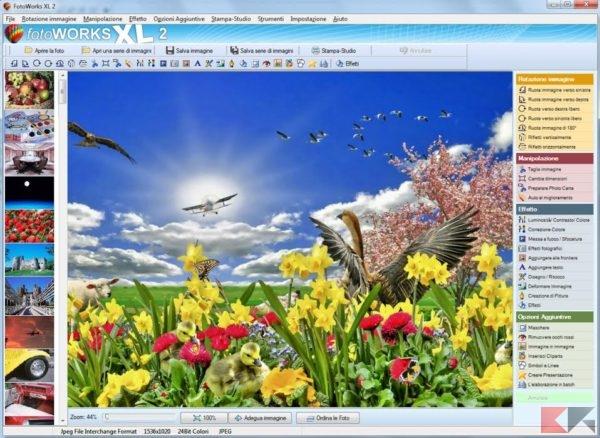 FotoWorks XL: modificare foto