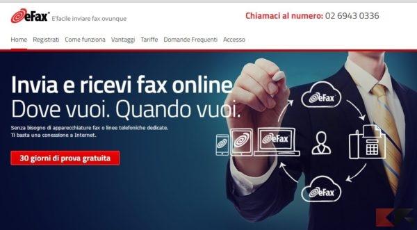 Invia e ricevi fax gratis via Internet - eFax Italia